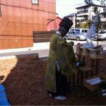 北名古屋市で家づくり先日の地鎮祭