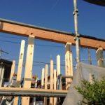 北名古屋市で雨楽な家の建前でした!平屋のお家です。
